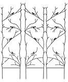 BestNest Set of 3 Gardman Nature Trellises, Antique Rust, 50.5'' H Each