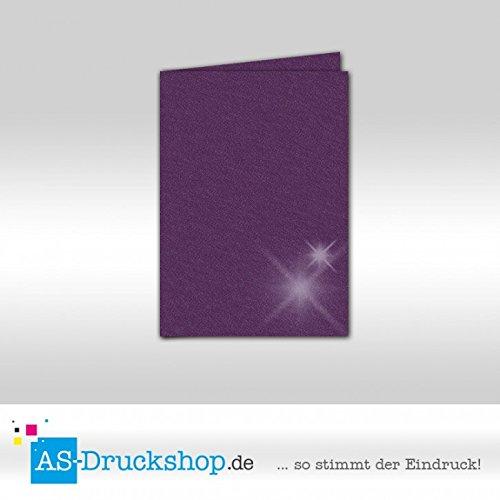 Faltkarte Faltkarte Faltkarte - Amethyst - mit glänzenden Partikeln 50 Stück DIN A6 B079519V7Z | Geeignet für Farbe  db30b2