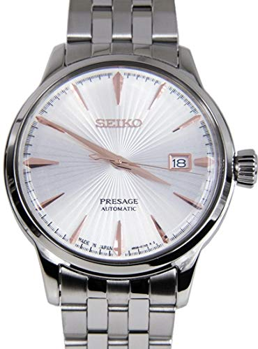Watch Cocktail - SEIKO PRESAGE Automatic White Sunburst Cocktail Time