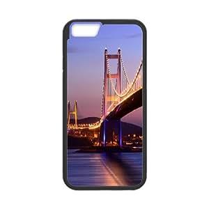 Tsing Ma Bridge Hong Kong 2 IPhone 6 Case, Iphone 6 Cases for Girls Designs Luxury Evekiss - Black
