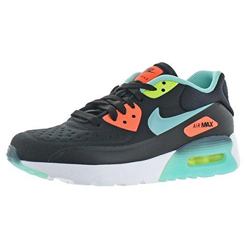 size 40 918e5 2a9a3 Galleon - Nike AIR MAX 90 ULTRA SE (GS) Girls Running-shoes 844600-001 6Y -  BLACK HYPER TURQ-BRIGHT MANGO-VOLT
