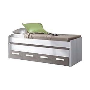 Mobimarket cama nido juvenil 2 camas y 2 cajones amazon for Dormitorios juveniles en amazon