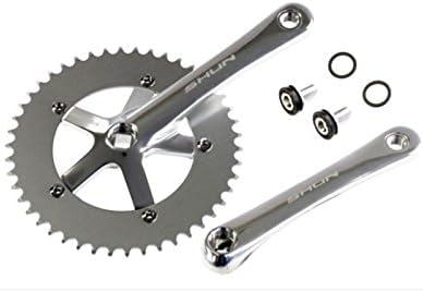 Juego de Plato y Bielas Color PLATA de Aluminio CNC MECANIZADO para Bicicleta Fixie o Singlespeed Urbana 1V 165 mm x 46 T 3742: Amazon.es: Deportes y aire libre