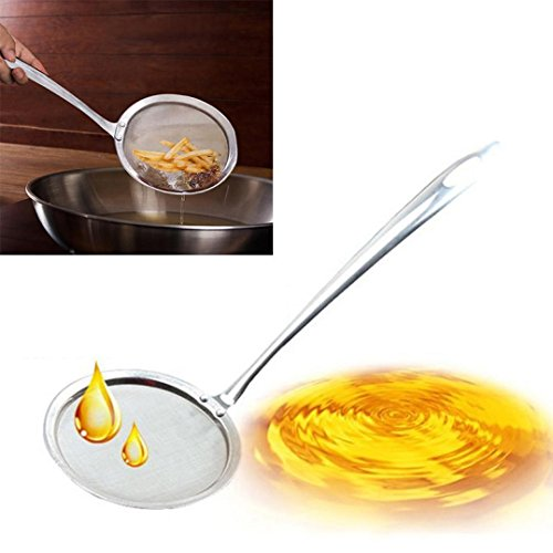 AMA(TM) Stainless Steel Fine Mesh Strainers Colander Kitchen Food Vegetable Strainer Sieve Sifters (Small) (Fryer Drainer compare prices)