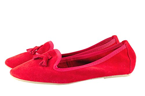 silfershoes - nappettina in Genuine Leather With Bow, Red