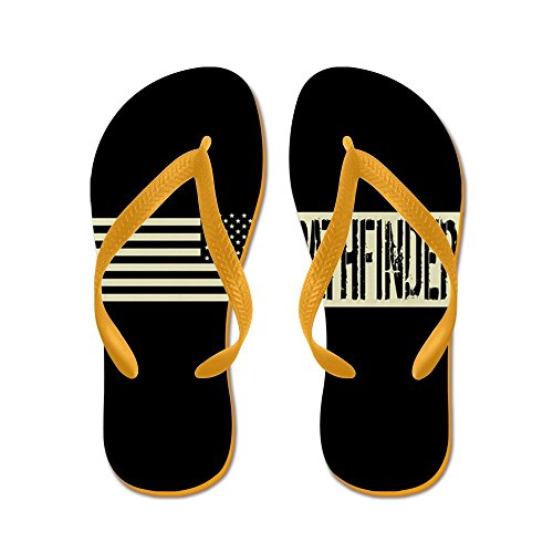 CafePress U.S. Army: Pathfinder (Black Flag) - Flip Flops, Funny Thong Sandals, Beach Sandals Orange