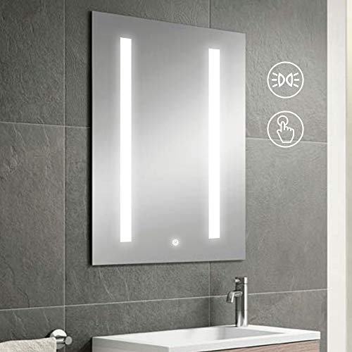 KAASUN 32-Inch by 24-Inch Wall Mounted LED Mirror with Anti Fog, 5050 -