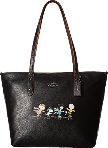 COACH Women's Snoopy City Zip Tote Qb/Black One Size by Coach