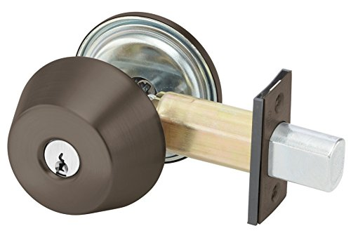 Yale D212 X 613E X 2807 KR 200 Series Deadbolt, Cylinder by Thumbturn, Schlage C Keyway, Keyed Random, 6 Pin, 2 3/4'' Backset, 613E Dark Satin Bronze by Yale