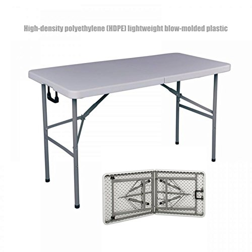 Commercial Construction Light-weight Portable Multipurpose 4ft High Density Plastic Powder Coated Steel Frame Folding Indoor Outdoor Table Picnic Camp Party Dining Laptop Desk - Center Shopping Jacksonville Fl
