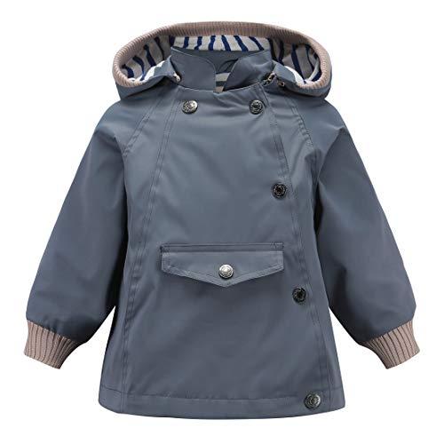 Girls Hooded Jacket Puffer (ACESTAR 100% Waterproof Rain Jacket Coat, Windproof Spring Fall Jacket for Boys Girls Infant Toddler Windbreaker Raincoat(JK005K0,3T) Black)