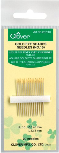 Gold Needles Eye (Clover Gold Eye Sharp, No. 10)