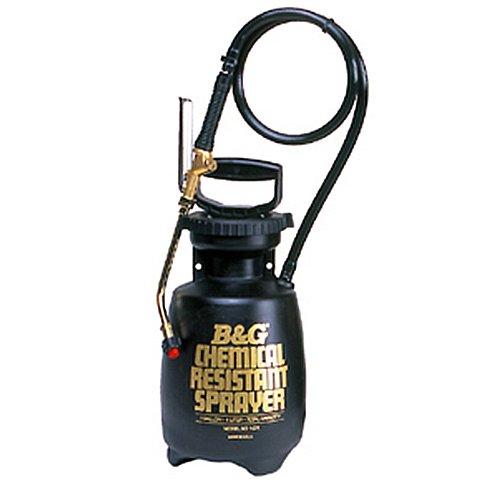 - B & G Equipment 12013600 Chemical Resistant Sprayer, 1 gal Poly Molded Thick Wall polyethylene Tank Design, 18