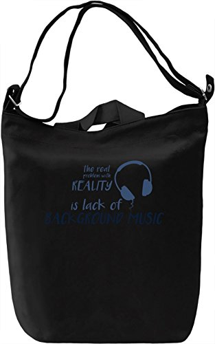 Real problem with reality Borsa Giornaliera Canvas Canvas Day Bag| 100% Premium Cotton Canvas| DTG Printing|