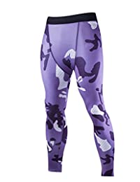 Men's Compression Fit Base Layers Tight Pants Leggings