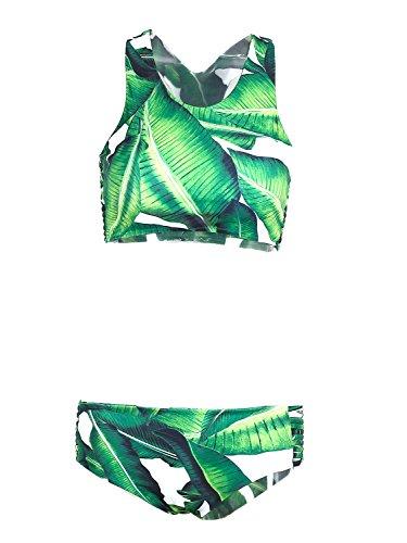 Glamaker Womens Leaves Bikini Swimsuit product image