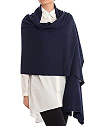 Dalle Piane Cashmere Stole Cashmere Blend Made In Italy Color Blue One Size