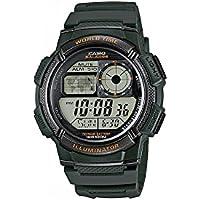 Relógio Masculino Casio Digital AE1000W3AVDF - Verde Militar