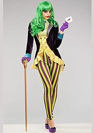 Disfraz de Joker Style para Mujer Deluxe S (UK 8-10)