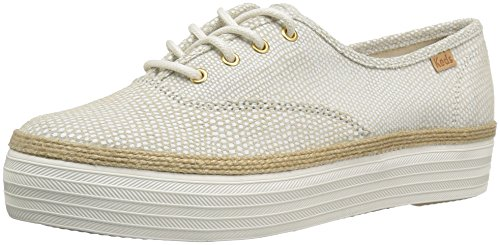 Keds Women's Triple Dalmata Dot Leather Fashion Sneaker, Cream, 8.5 M US (Sneaker Dot Fashion)