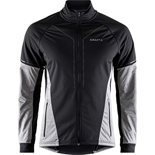 Craft Sportswear Men's Storm 2.0 Nordic Cross Country Skiing Training Jacket, Black/Dark Grey, Large