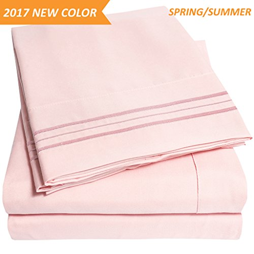 California Pale (1500 Supreme Collection Extra Soft California King Sheets Set, Pale Pink - Luxury Bed Sheets Set With Deep Pocket Wrinkle Free Hypoallergenic Bedding, Over 40 Colors, California King Size, Pale Pink)