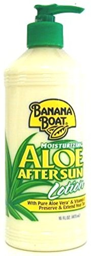 Banana Boat Aloe After Sun Lotion Pump 16 Ounce (473ml) (3 Pack)