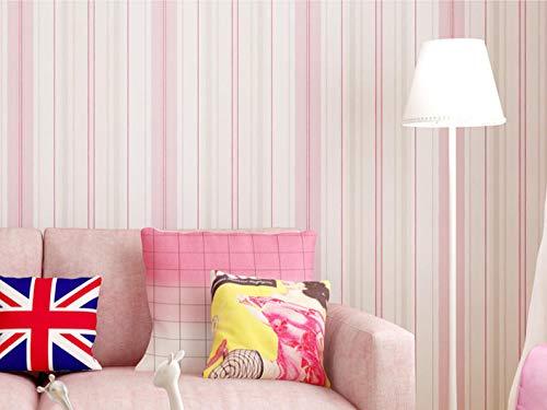 Hnfszbb Non-Woven Mediterranean Vertical Stripes Self-Adhesive Wallpaper Children's Room Bedroom Study Boy Girl Environmental -