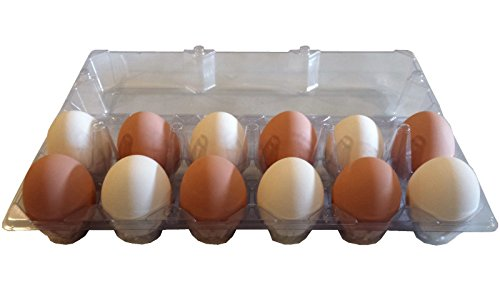 24 PACK RITE FARM PRODUCTS 12 EGG CLEAR POLY CHICKEN CARTON TRAY POULTRY S-JUMBO by Rite Farm Products (Image #3)