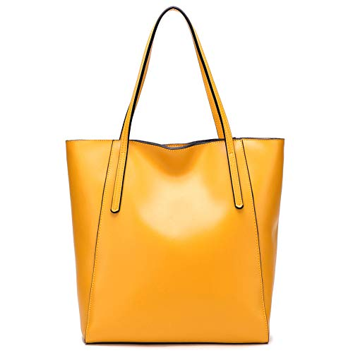 CHERRY CHICK Women's Genuine Leather Everyday Tote and Shoulder Bag Sturdy Purse Handbag - Wallet Manga