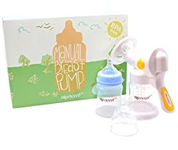 Silicone Breast Pump With Lid - Portable Manual Suction Breastmilk Dispenser - Breastpump Breastfeeding Accessories