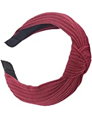 Guesthome au Women Headband Twist Hairband Bow Knot Cross Tie Headwrap Hair Band Hoop Fashion pure color