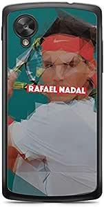 رافايل نادال لاجهزة نيكساس 5، حافظة بحافة شفافة - هيروز كوليكشن