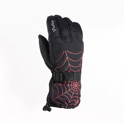 LTUI Adult winter waterproof weatherproof snow snow skiing warm non - slip sports gloves (black)