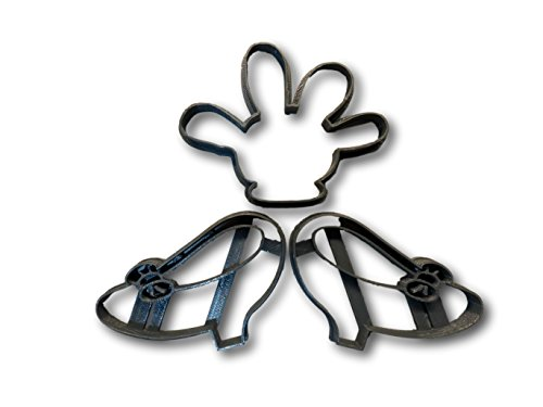 Girl Mouse Shoes and Glove Cookie Cutters (set of 3)