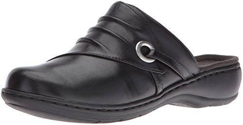 Leisa Clarks Bliss Women's Black Leather Mule OvqUwv5