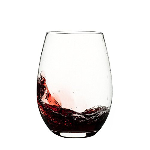 Franmara Unbreakable Plastic Stemless Wine Glass 20 oz | 100% Tritan Heavy Base | Shatterproof Glassware | Ideal For Cocktails & Scotch | Perfect For Homes & Bars | Dishwasher Safe ()