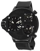 Welder by U-Boat K30 Oversize Triple Time Zone Black Ion-plated Steel Mens Sport Watch K30-9001 from Welder