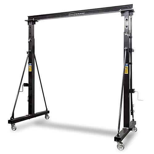 (Eastwood 1 Ton Steel Gantry Crane Adjustable & Mobile Capacity With 4 Steel Swivel)