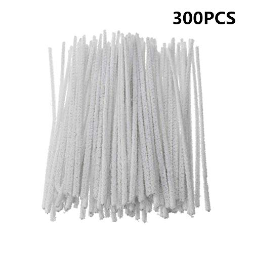 300 Pcs / Lot 3MM Intensive Cotton Pipe Cleaners DIY Cleaning Tool (White)