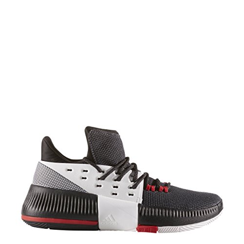 Price comparison product image adidas D Lillard 3 J BW0536 Big Kid Basketball Shoes Sz 6.5 Black/White/Scarlet