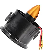 RC Ducted Fan with Motor, 70mm EDF 6 Blades Ducted Fan with QF2822‑3000KV 4S Brushless Motor Fit for RC Airplane