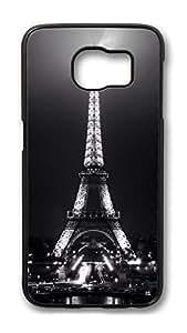 Brian114 Case, S6 Case, Samsung Galaxy S6 Case Cover, Eiffel Retro Protective Hard PC Back Case for S6 ( Black )