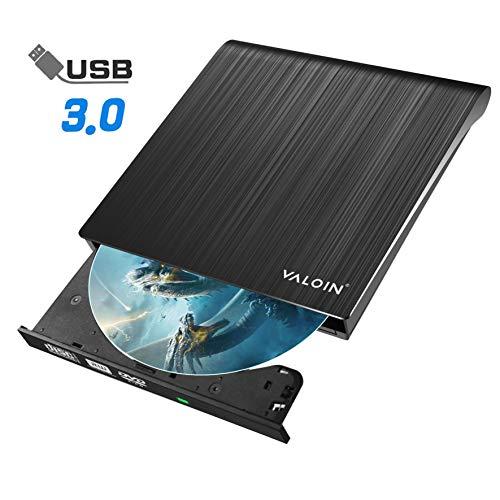 2019 New External DVD CD Drive with USB 3.0, Slim Portable Pop-Up External CD DVD-RW Player,Black