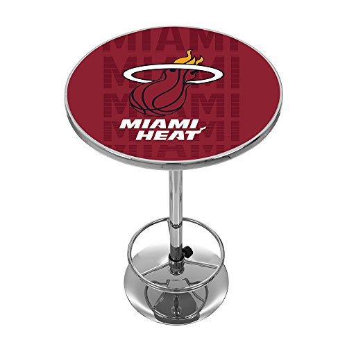 Trademark Gameroom NBA2000-MH3 NBA Chrome Pub Table - City - Miami Heat (Cheap Miami Furniture)