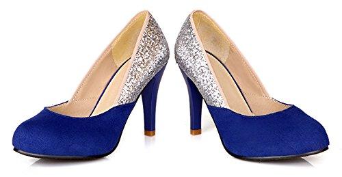 Original Escarpins Bleu Basse Bout Aisun Fiancée Femme Rond Paillettes 5UxBq