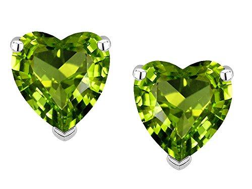 Star K Solid 14k Gold Heart Shape 6mm Earrings Studs