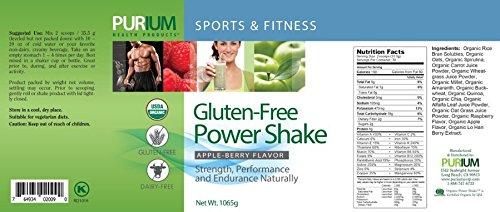 Purium Power Shake- Apple Berry Flavor, 37.56 oz (1065g)