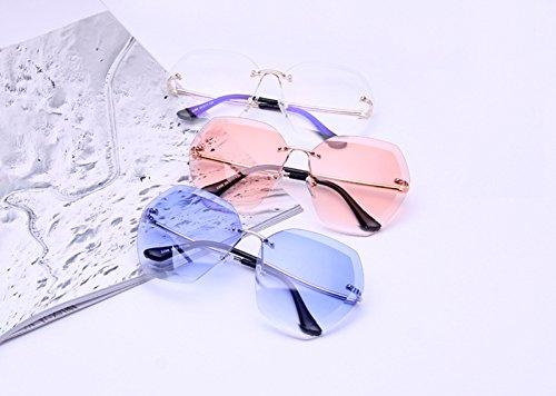 de 4 Gafas la de Señora de Manera Sin Gafas Gafas Marco de de Sol Sol Libre al Cristalino Sol Ruikey la Aire w1gSC5qg