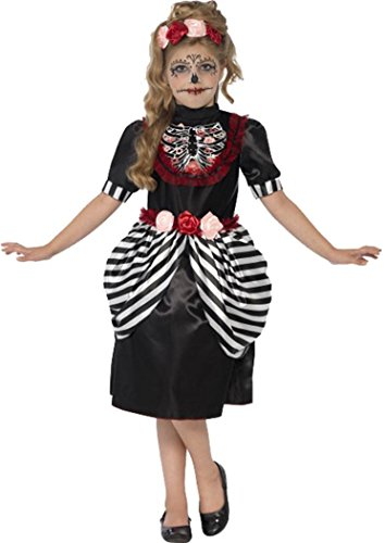 [Sugar Skull Costume Black Large Age 10-12] (Halloween Costumes Age 12 Uk)